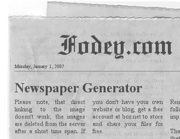 Try the Online Newspaper Generator