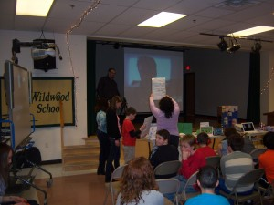 Students Ask Interview Questions and Show Off Artwork